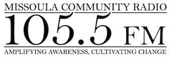 Missoula Community Radio 105.5 FM KFGM-LP logo